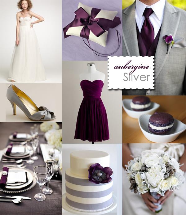 2012 wedding color palettes visions wedding event boutique - Purple and silver color scheme ...